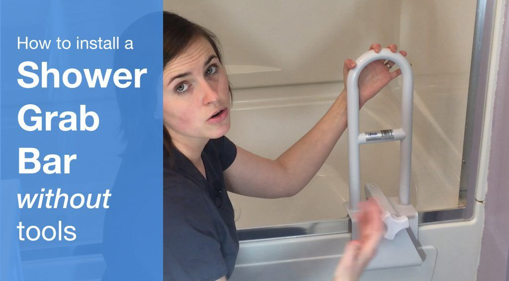 How to Install a Shower Grab Bar Without Tools