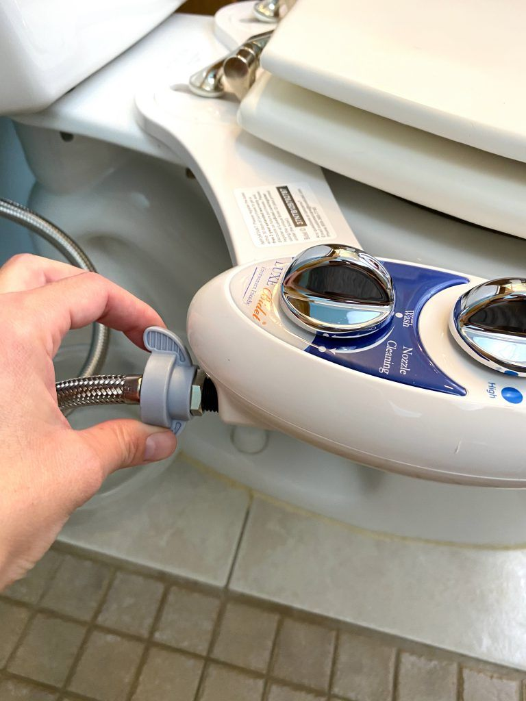 Install Luxe Bidet Neo 120 connect water line to bidet