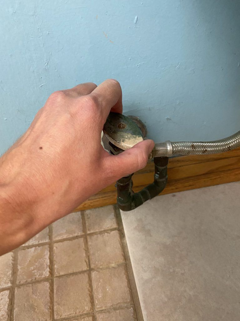 How to install bidet - turn off water supply valve to toilet
