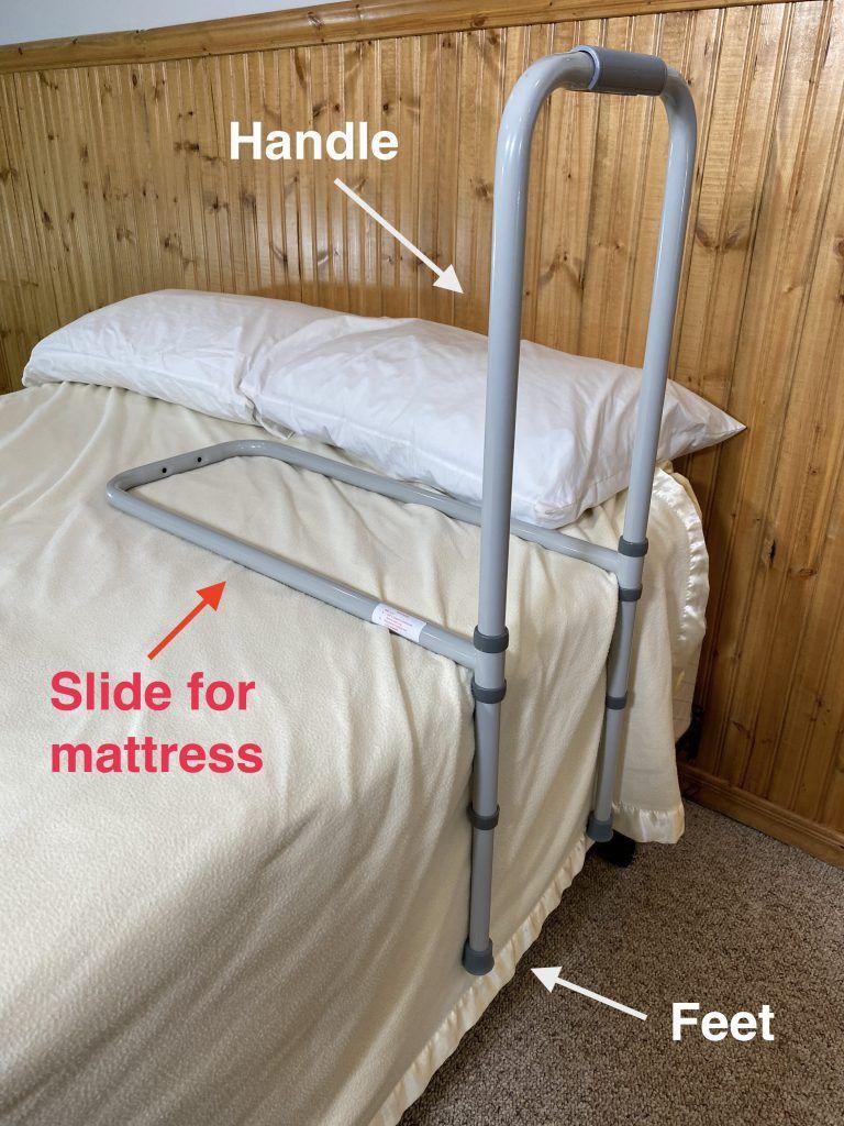 Adult bed rails assemble the bed rails