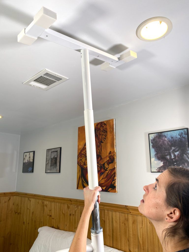 No Drill Grab Bar Assembled Ceiling Placement