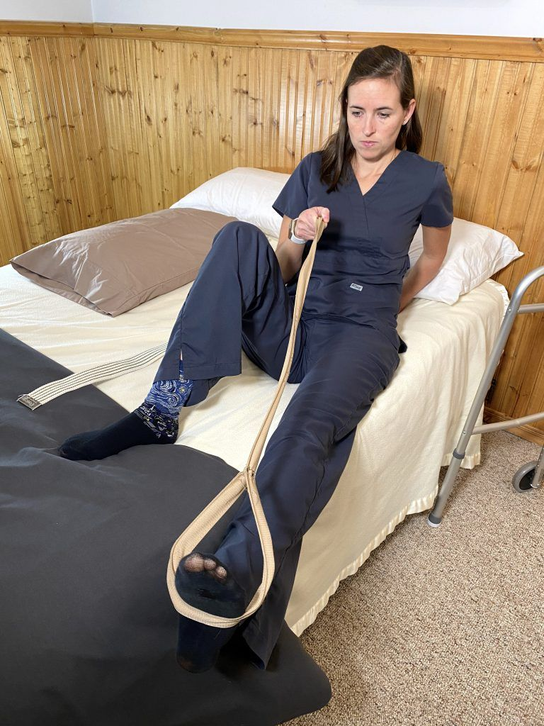 Bed Mobility After Hip Replacement - Leg Lift Over Side of Bed