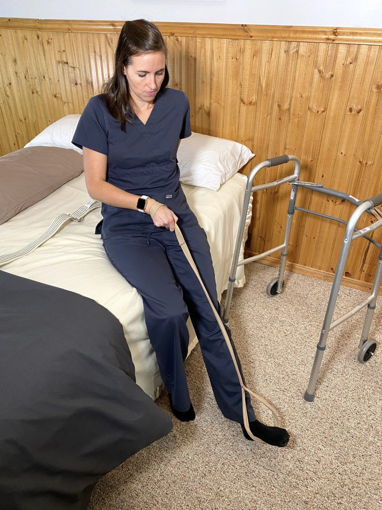 Bed Mobility After Hip Replacement - Leg Lift to Floor