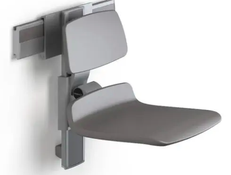 Height adjustable mounted shower seat