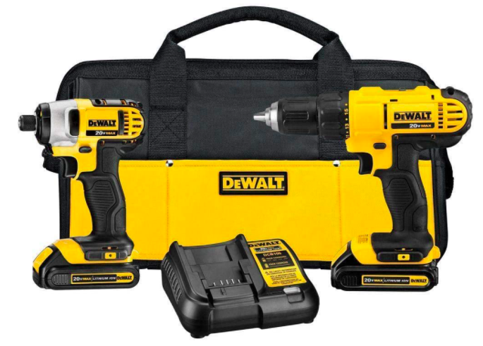 Impact and drill driver set