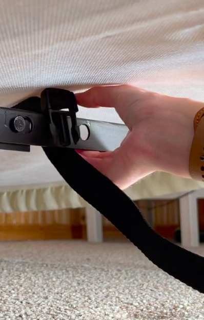 Loop clip around bed frame - Bed Ladder Bed Mobility Aid