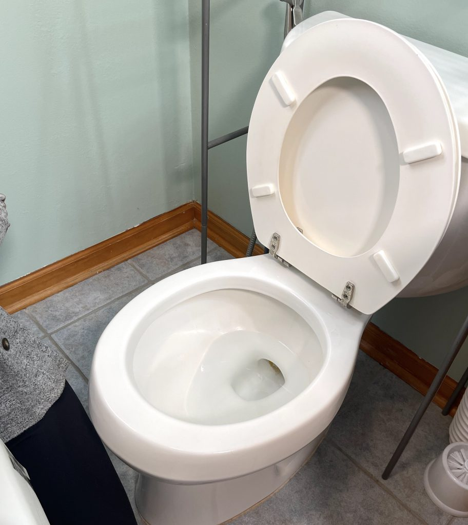Open Toilet Seat and Lid - Clamp-on Raised Toilet Seat